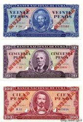 1, 5, 10, 20, 50 et 100 Pesos CUBA  1961 P.Cs01 NEUF