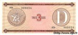 3 Pesos CUBA  1985 P.FX28 NEUF