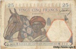 25 Francs AFRIQUE OCCIDENTALE FRANÇAISE (1895-1958)  1939 P.22 TB à TTB