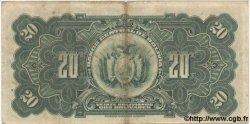 20 Bolivars BOLIVIE  1928 P.122 TB+