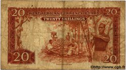 20 Shillings AFRIQUE OCCIDENTALE BRITANNIQUE  1953 P.10 TB