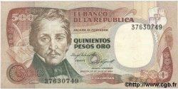 500 Pesos Oro COLOMBIE  1984 P.423b SUP