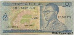 10 Makuta CONGO  1970 P.09 TB+