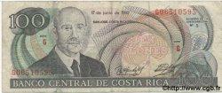 100 Colones COSTA RICA  1992 P.258 TB