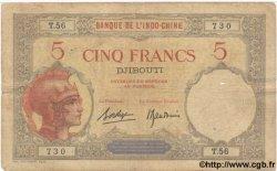 5 Francs DJIBOUTI  1928 P.06b TB+