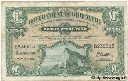 1 Pound GIBRALTAR  1971 P.18b TB