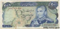 200 Rials IRAN  1974 P.103a pr.TTB