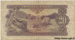 20 Frang LUXEMBOURG  1943 P.42 B+