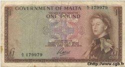 1 Pound MALTE  1963 P.26 TB+