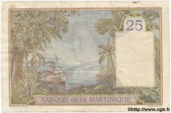 25 Francs MARTINIQUE  1938 P.12 pr.TTB