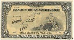 25 Francs MARTINIQUE  1943 P.17 NEUF