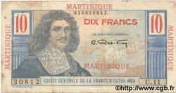 10 Francs MARTINIQUE  1947 P.28 TB+