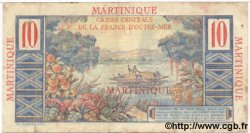 10 Francs Colbert MARTINIQUE  1947 P.28 TB+