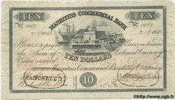 10 Dollars - 2 Pounds ÎLE MAURICE  1842 PS.122 TTB