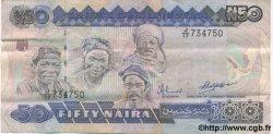 50 Naira NIGERIA  1991 P.27b TTB