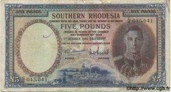 5 Pounds RHODÉSIE  1945 P.11b TB