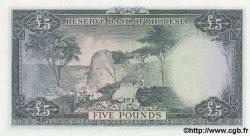 5 Pounds RHODÉSIE  1964 P.26 NEUF