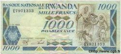 1000 Francs RWANDA  1981 P.21