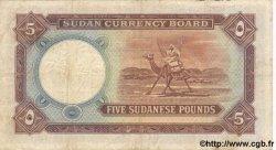 5 Pounds SOUDAN  1956 P.04 TB