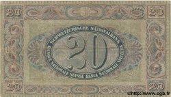 20 Francs SUISSE  1923 P.33a pr.TTB
