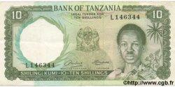 10 Shillings TANZANIE  1966 P.02a TTB