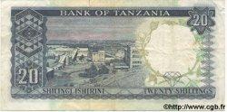 20 Shillings TANZANIE  1966 P.03a
