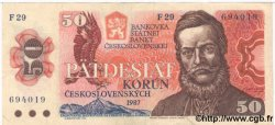 50 Korun TCHÉCOSLOVAQUIE  1987 P.096 TTB
