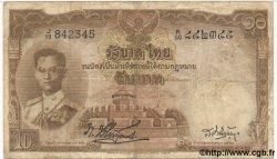 10 Baht THAÏLANDE  1955 P.076b TB+