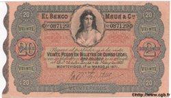 20 Pesos URUGUAY  1871 PS.292 pr.SUP
