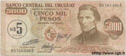 5 Nuevos Pesos sur 5000 Pesos URUGUAY  1975 P.057