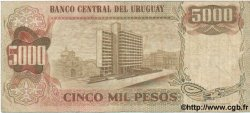 5 Nuevos Pesos sur 5000 Pesos URUGUAY  1975 P.057 TB à TTB