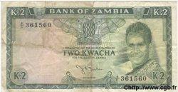 2 Kwacha ZAMBIE  1968 P.06 TB