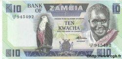 10 Kwacha ZAMBIE  1986 P.26e NEUF