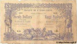 20 Dollars / 20 Piastres INDOCHINE FRANÇAISE  1898 P.030 B