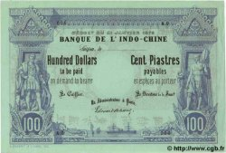100 Dollars / 100 Piastres INDOCHINE FRANÇAISE  1876 P.023s pr.NEUF