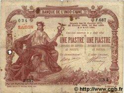 1 Piastre / 1 Piastre INDOCHINE FRANÇAISE  1909 P.026b B+