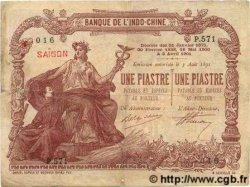 1 Piastre / 1 Piastre INDOCHINE FRANÇAISE  1909 P.026b