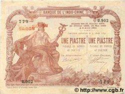 1 Piastre / 1 Piastre INDOCHINE FRANÇAISE  1909 P.026b SUP