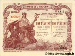 1 Piastre - 1 Piastre INDOCHINE FRANÇAISE Saïgon 1909 P.034b pr.NEUF
