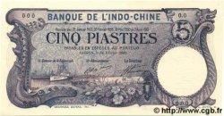 5 Piastres INDOCHINE FRANÇAISE Saïgon 1909 P.037as pr.NEUF