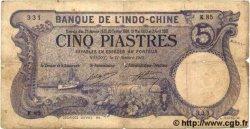 5 Piastres INDOCHINE FRANÇAISE  1915 P.032b