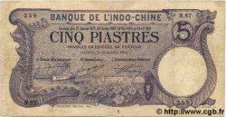 5 Piastres INDOCHINE FRANÇAISE  1916 P.032b TB+