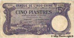 5 Piastres INDOCHINE FRANÇAISE  1920 P.038 TB+