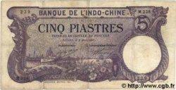 5 Piastres INDOCHINE FRANÇAISE Saïgon 1920 P.040 pr.TTB