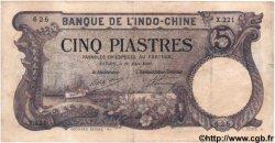 5 Piastres INDOCHINE FRANÇAISE  1920 P.038