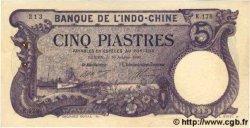 5 Piastres INDOCHINE FRANÇAISE  1920 P.038 SUP+