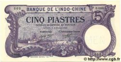 5 Piastres INDOCHINE FRANÇAISE  1920 P.038s NEUF