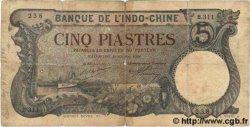 5 Piastres INDOCHINE FRANÇAISE Haïphong 1920 P.019 B