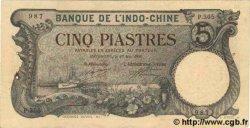 5 Piastres INDOCHINE FRANÇAISE  1920 P.041 pr.SUP