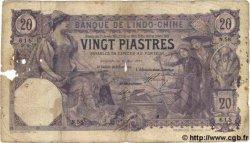 20 Piastres INDOCHINE FRANÇAISE Saïgon 1913 P.038b B